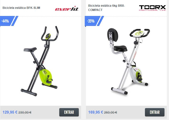 bicicleta estática plegable barata