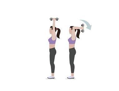 ejercicio mancuernas triceps